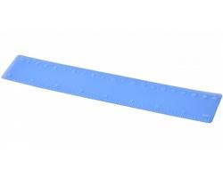 Plastové pravítko LOUISIANA, 20 cm - matně modrá