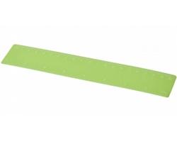 Plastové pravítko LOUISIANA, 20 cm - matně zelená