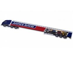Plastové pravítko TRUCK ve tvaru kamionu, 30 cm - bílá