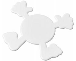 Plastový podtácek KACABA tvaru postavičky - bílá