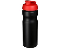 Plastová sportovní lahev LAGAN s vyklápěcím víčkem, 650 ml - černá / červená
