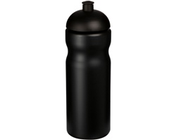 Plastová sportovní lahev EDIFY s kupolovitým víčkem, 650 ml - černá