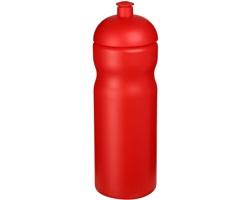 Plastová sportovní lahev EDIFY s kupolovitým víčkem, 650 ml - červená
