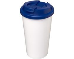 Plastový termohrnek CHARA s vodotěsným víčkem, 350 ml - modrá