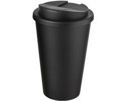 Plastový termohrnek Americano NEGLEY s uzavíratelným víčkem, 350 ml - černá
