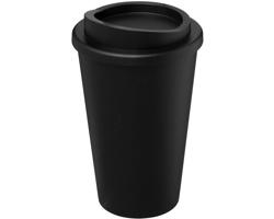 Termohrnek Americano MARGO z recyklovaného materiálu, 350 ml - černá