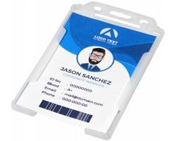 Transparentní plastové pouzdro na ID kartu CATHA - transparentní čirá