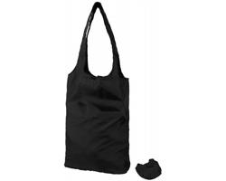 Polyesterová nákupní taška DONEE s pouzdrem - černá