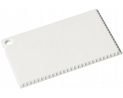 Škrabka na led MERE o velikosti platební karty - bílá