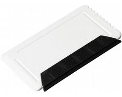 Plastová škrabka na led SMOKE se stěrkou - bílá
