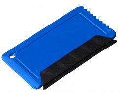 Plastová škrabka na led SMOKE se stěrkou - modrá