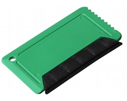 Plastová škrabka na led SMOKE se stěrkou - zelená