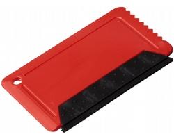 Plastová škrabka na led SMOKE se stěrkou - červená