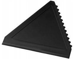 Plastová škrabka na led WARREN ve tvaru trojúhelníku - černá