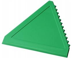 Plastová škrabka na led WARREN ve tvaru trojúhelníku - zelená