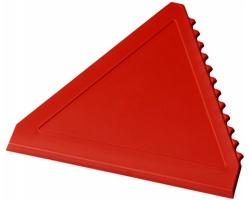 Plastová škrabka na led WARREN ve tvaru trojúhelníku - červená