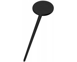 Plastové koktejlové míchátko ULEN ve tvaru disku - černá