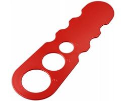 Plastová odměrka VOTES porce špaget - červená