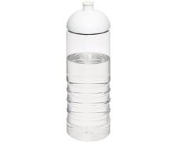 Plastová sportovní lahev RECAP s kupolovitým víčkem, 750 ml - transparentní / bílá