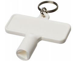 Plastový trojúhelníkový servisní klíč GAPS s kroužkem na klíče - bílá