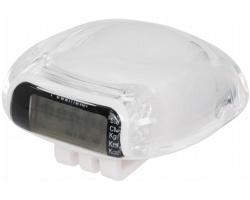 Plastový krokoměr WASHY s LCD displejem - bílá