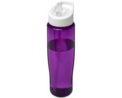 Plastová sportovní lahev ORLEANS s víčkem s výklopným brčkem, 700 ml - purpurová / bílá