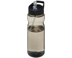 Sportovní lahev SUITE s ergonomickým designem, 650 ml - tmavě šedý melír / černá