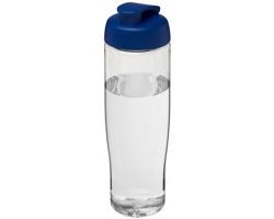 Sportovní lahev ELEGY s vyklápěcím pítkem, 700 ml - transparentní / modrá