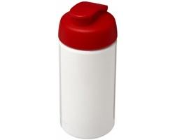 Plastová variabilní sportovní lahev URIA, 500 ml - bílá / červená