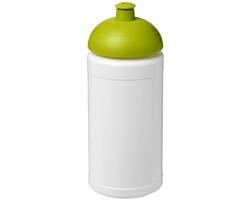 Sportovní lahev PORES s víčkem proti rozlití, 500 ml - bílá / jemně zelená
