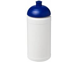 Sportovní lahev PORES s víčkem proti rozlití, 500 ml - bílá / modrá