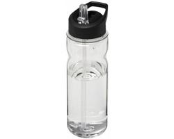 Sportovní lahev ASCE s víčkem s výklopným pítkem, 650 ml - transparentní / černá