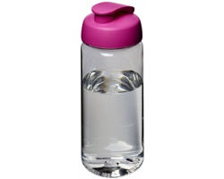Tritanová sportovní lahev HENNA s vyklápěcím víčkem, 600 ml - transparentní / růžová