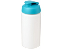 Sportovní lahev CETYL s vyklápěcím víčkem, 500 ml - bílá / tyrkysová