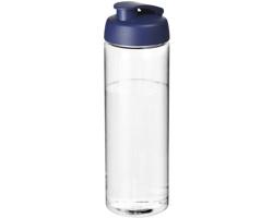 Plastová sportovní lahev STOOD s vyklápěcím víčkem, 850 ml - transparentní / modrá