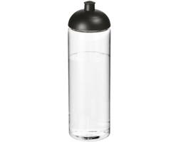 Plastová sportovní lahev KRISTEN s kupolovitým víčkem, 850 ml - transparentní / černá
