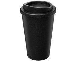 Plastový termohrnek KEAS s třpytivým dekorem, 350 ml - černá