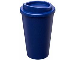 Plastový termohrnek KEAS s třpytivým dekorem, 350 ml - modrá