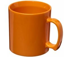 Odolný plastový hrnek CLEW, 300 ml - oranžová