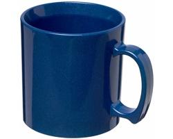 Odolný plastový hrnek CLEW, 300 ml - středně modrá- středně modrá