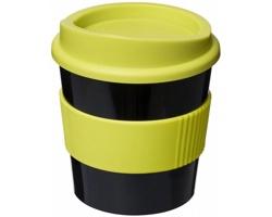 Plastový hrnek Americano Primo TOMEKA, 250 ml - černá / jemně zelená