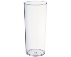 Plastový party kelímek TAPAS, 340 ml - transparentní čirá