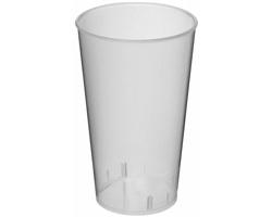 Plastový party kelímek JUNGLE, 375 ml - transparentní bílá