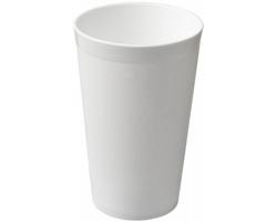 Plastový kelímek pro opakované použití SAN, 300 ml - bílá