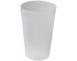 Plastový kelímek pro opakované použití SAN, 300 ml - transparentní