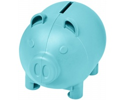 Malá plastová pokladnička KNELT ve tvaru prasátka - modrá