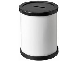 Plastová kulatá pokladnička TURFS - černá