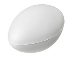 Antistresová pomůcka PRESA ve tvaru míče na ragby - bílá