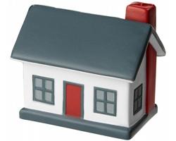 Antistresová pomůcka HARWINTON tvaru domečku - bílá / šedá
