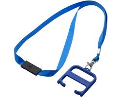 Plastový hygienický klíč s technologií Biomaster SCREE s lanyardem - královská modrá